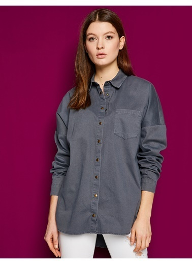 Yazılı Baskılı Gömlek-Koton